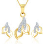 Sukkhi Glimmery Gold and Rhodium Plated CZ Pendant Set