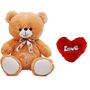 5 Feet Teddy Bear with Heart Shape Pillow - Brown