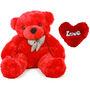 1 Feet Teddy Bear with Heart Shape Pillow - Red