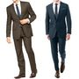Pack of 2 Vimal Suit Length (Coat + Trouser) For Men - Blue & Brown