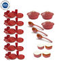 Set of 57 Cutting Edge Dinner & Serving Set Combo - Red