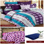 Storyathome Combo Of 1 Pc Cotton Double Bedsheet With 2 Pillow Cover, 2 Single Dohar/AC Micro Fiber Quilt , 1 pc Cotton Bath Towel-CN_1432-FB_2-1223S-TW1216-X
