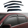 Car Door Visor For Ford Ikon 4 Pcs - Black
