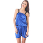 Fasense Satin Jump Suit - Royal Blue