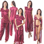 Pack of 6 Fasense Satin Nighty Set-DP095 B