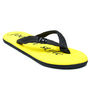 Foot n Style Slippers - Black & Yellow