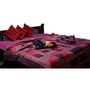 GRJ India Jaipuri Designer Printed Single Cotton AC Quilt -Razai -Purple and Pink- PN-Q1-S1-PLZG