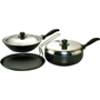 Hawkins Futura 3pcs Nonstick Cookware Set - Black QS4