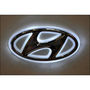 Hyundai Emblem Logo Badge Car Light - White