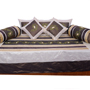 Little India 8 Piece Diwan Set - Coffee & Beige