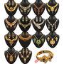 Parasmani 1 Gram Gold Plated 14 Jewellery Sets