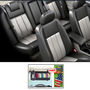 Samsun Car Seat Cover for Maruti Suzuki Wagon R 1.0  - Grey & Black