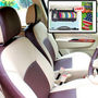 Samsun Car Seat Cover for Tata Sumo  - Beige & Brown