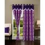 Set of 2 IWS Designer Door Curtain -Multicolor- IWS-CT-98