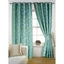 Story @ Home Aqua 2 pc Door curtain-7 feet-DNR3020