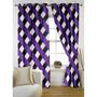 Story @ Home Purple 2 pc Door curtain-7 feet-DNR3014