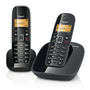 Gigaset A490 DUO Cordless Phones - Black
