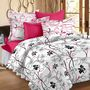 Storyathome Printed Cotton Double Bed Sheet With 2 Pillow Covers-MT1206