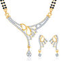Sukkhi Gold Finished Mangalsutra Set - White & Golden - 155M1770