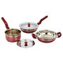 Klassic Vimal 5 Pcs Induction Cookware Set - Cherry Red