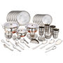 Klassic Vimal 101 Pcs Stainless Steel Dinner Set - Silver