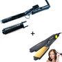 Combo Of Nova Hair Curling Iron & Hair Straightener