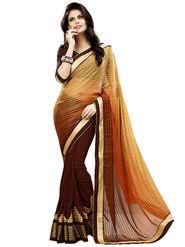 Nanda Silk Mills Multicolor Georgette Embroidered Saree With Blouse Piece_Enigma-4806