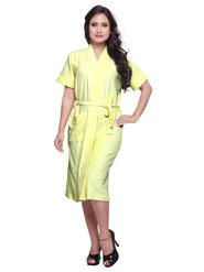 Yellow Turkish Cotton Bathrobe_DB-BR-RTM-207