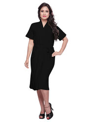 Black Turkish Cotton Bathrobe_DB-BR-RTM-202