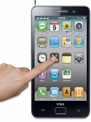 VOX 4 SIM Large Touch Screen TV Mobile - V9100 - Black