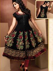 Ishin Cotton Embroidered Kurti - Black-Ashr-Kisha