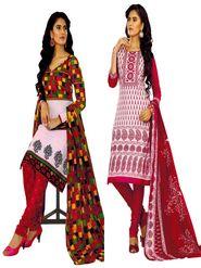 Pack of 2 Priya Fashions Cotton Printed Dress Material - PFS2CE