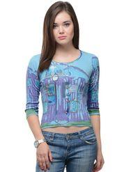 Lavennder Solid Regular Fit T-Shirt - Multicolor_LW-3886