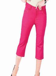 Uber Urban Cotton Solid Capri - Pink_5p-STR-CAPRI-PINK