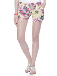 Lavennder Ladies Georgette Short With Lining - Cream_LW-5154