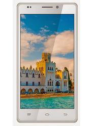 Intex Aqua Power HD Android KitKat 3G Smartphone - White & Gold