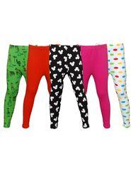 Pack of 5 Little Star Girl's Multicolor Leggings - PO5L_114