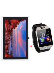 Combo of Vizio 8GB, 3G + wifi White Tablet + Smart SIM Watch, 32GB Memory Card Slot