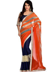 Shonaya Designer Golden Border Georgette Saree - PIMAG-1051
