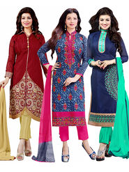 Ayesha Takia Pack of 3 Printed Shonaya PolyCotton Unstitched Dress Material