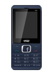 Trio T5 Star Dual SIM Phone with Facebook & Multi Language Support (English,Hindi,Gujrati,Bengoli) - Blue