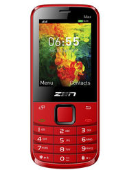 ZEN M72 Max Dual SIM Feature Phone (Red)