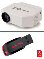 Combo of UC30 LED Projector + 8Gb Sandisk Pen Drive