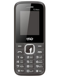 Trio T3 Neo Dual SIM Feature Phone (Black Red)
