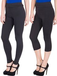 Combo of 2 American-Elm Black Yoga Pants