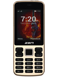 Zen Z8 Rocker Dual SIM Basic Phone (Golden)