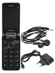 Darago X5 Dual Sim Flip Feature Phone (Black)