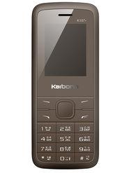 Karbonn K107 Star Dual SIM Basic Phone (Coffee Black)