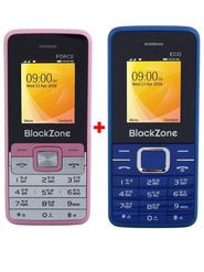 Combo of Blackzone Dual SIM Feature Phone (Blue & Pink)