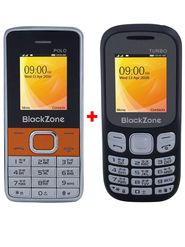 Combo of Blackzone Dual SIM Feature phone (Black & Silver Orange)